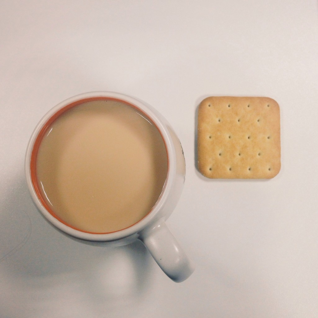 Evgeniya Muraveva minimalist photo of tea and biscuit